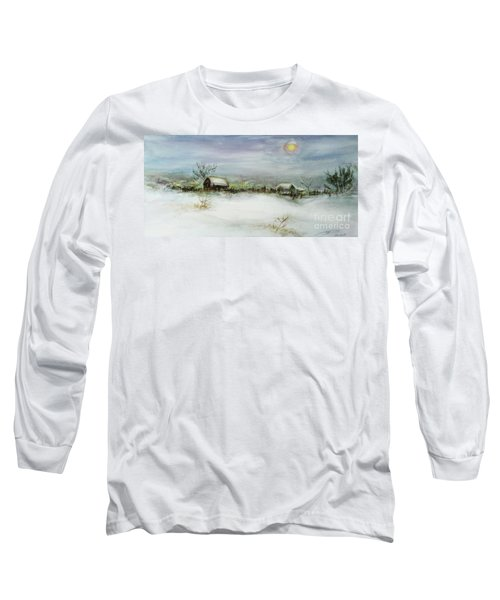 After A Heavy Fall Of Snow Long Sleeve T-Shirt by Xueling Zou