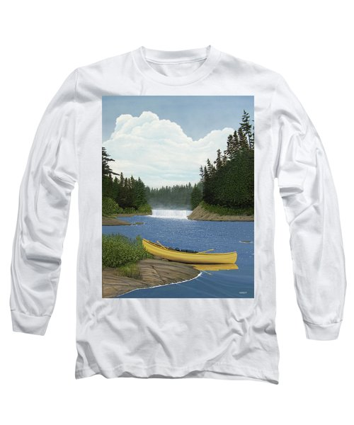 After The Rapids Long Sleeve T-Shirt by Kenneth M  Kirsch
