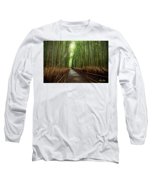 Long Sleeve T-Shirt featuring the photograph Afternoon In The Bamboo by Rikk Flohr