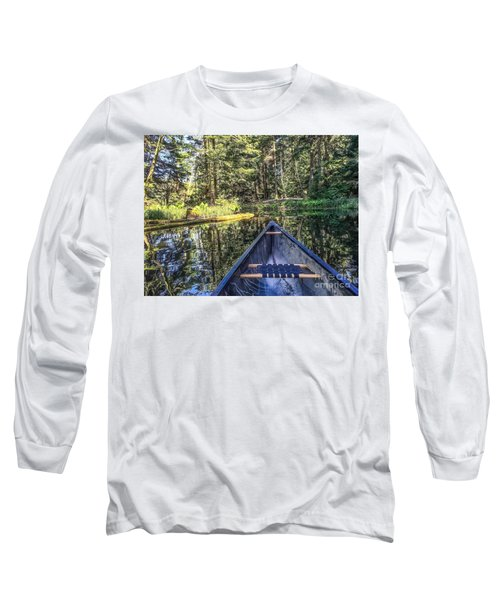 Afternoon Paddle Long Sleeve T-Shirt by William Wyckoff