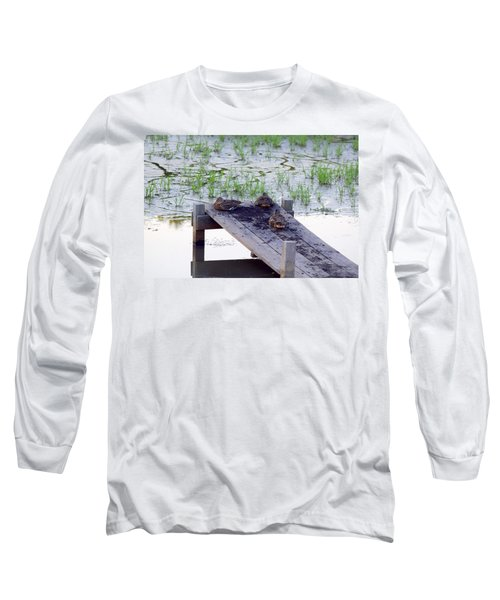 Long Sleeve T-Shirt featuring the photograph Afternoon Rest by Deborah  Crew-Johnson