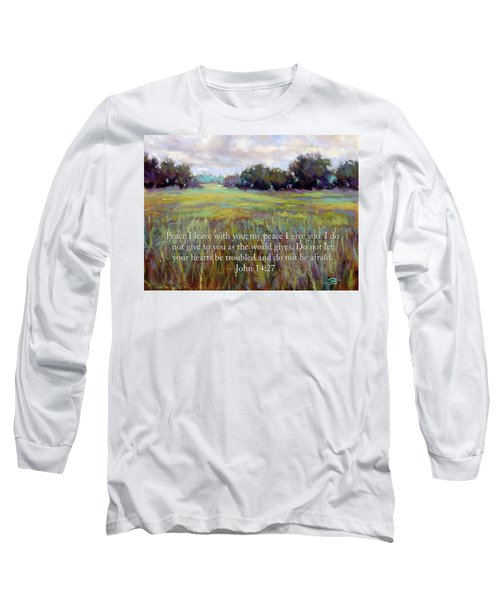 Afternoon Serenity With Bible Verse Long Sleeve T-Shirt