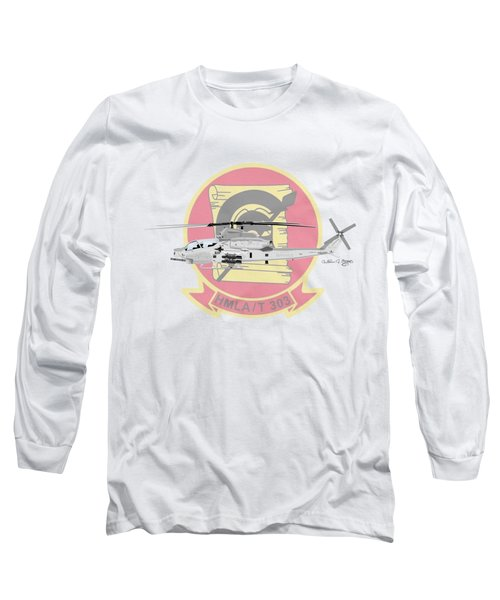 Ah-1z Viper Long Sleeve T-Shirt by Arthur Eggers