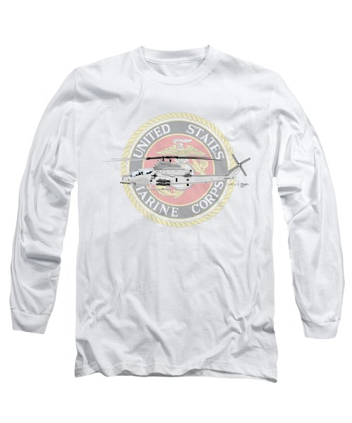 Ah-1z Viper Usmc Long Sleeve T-Shirt by Arthur Eggers