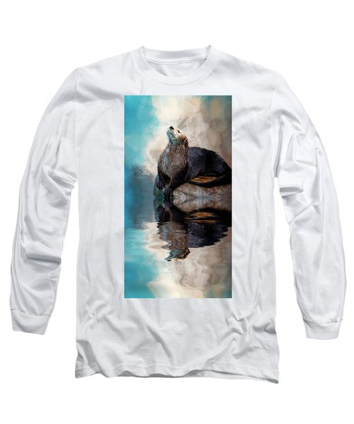 Ahhhhhhhh Long Sleeve T-Shirt by Cyndy Doty