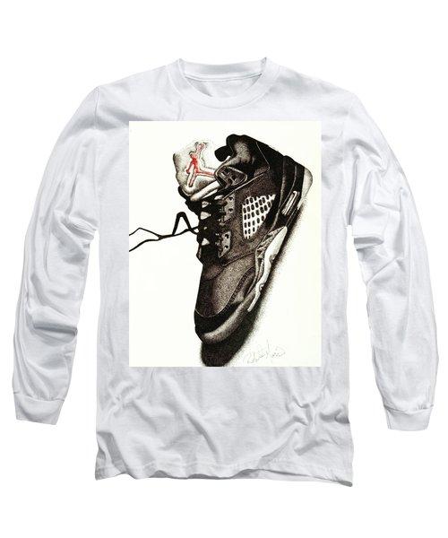 Air Jordan Long Sleeve T-Shirt by Robert Morin