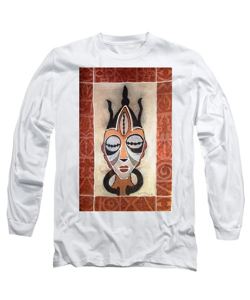 Aje Mask Long Sleeve T-Shirt by Bankole Abe
