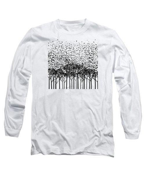 Aki Monochrome Long Sleeve T-Shirt by Cynthia Decker