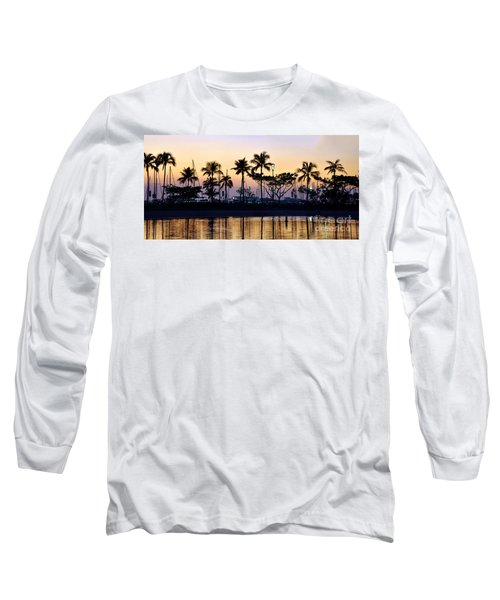 Long Sleeve T-Shirt featuring the photograph Ala Wai Harbor by Gina Savage