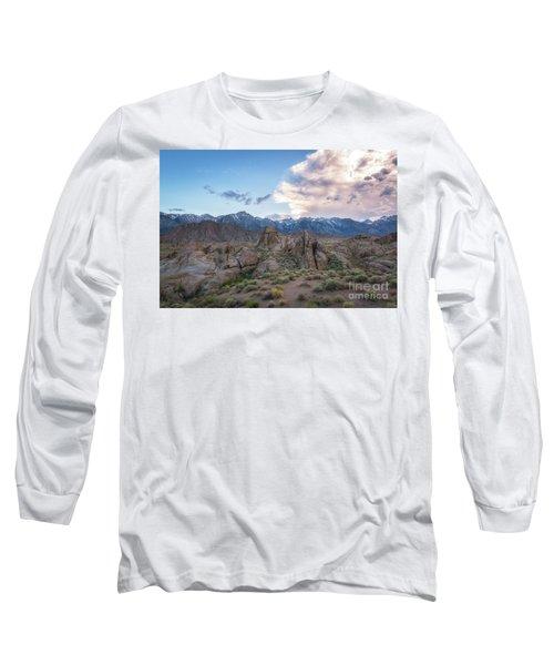 Alabama Hills And Sierra Nevada Mountains Long Sleeve T-Shirt