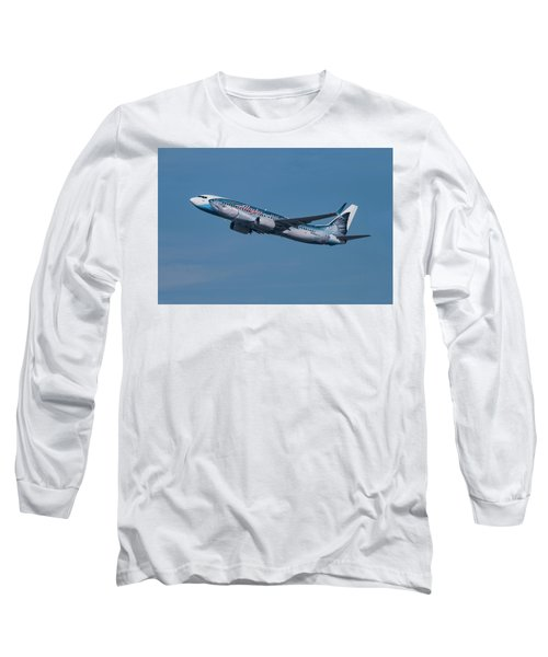 Alaska Airlines Boeing 737-800 With Wild Alaska Seafood Livery  Long Sleeve T-Shirt