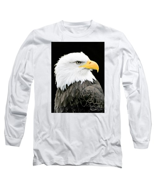 Alaskan Bald Eagle Long Sleeve T-Shirt by Merton Allen