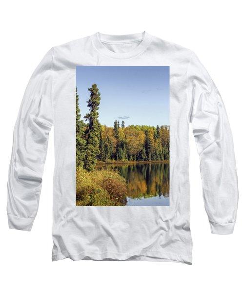 Alaskan Lake In Autumn Long Sleeve T-Shirt
