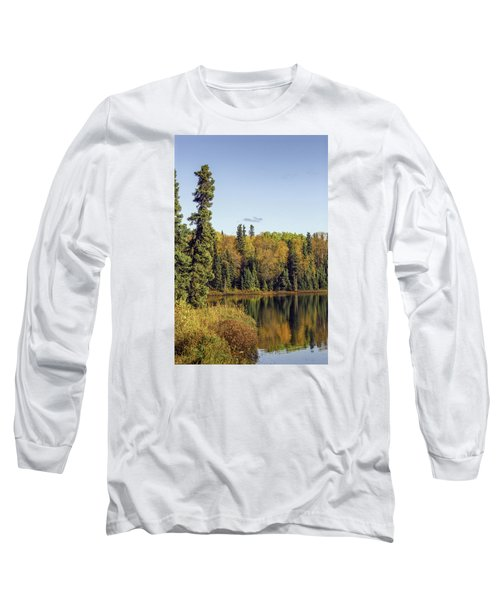 Alaskan Lake In Autumn Long Sleeve T-Shirt