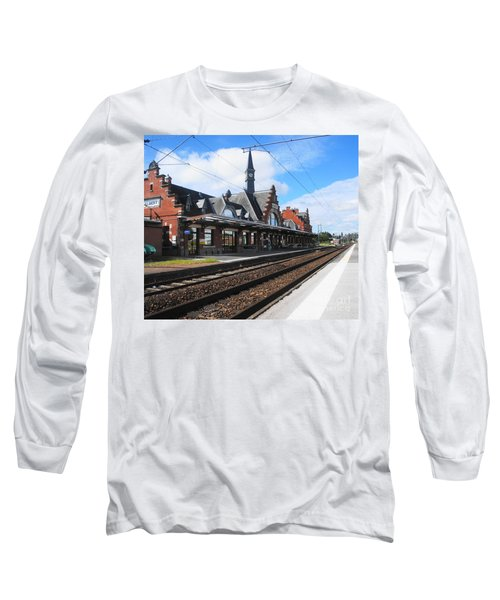 Long Sleeve T-Shirt featuring the photograph Albert Train Station, France by Therese Alcorn