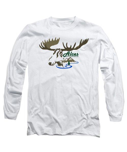 Alces Logo Men Hoodie Long Sleeve T-Shirt