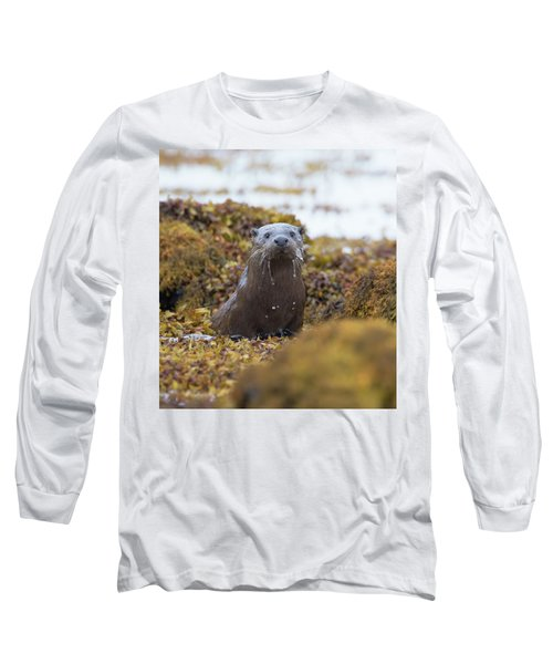 Alert Female Otter Long Sleeve T-Shirt