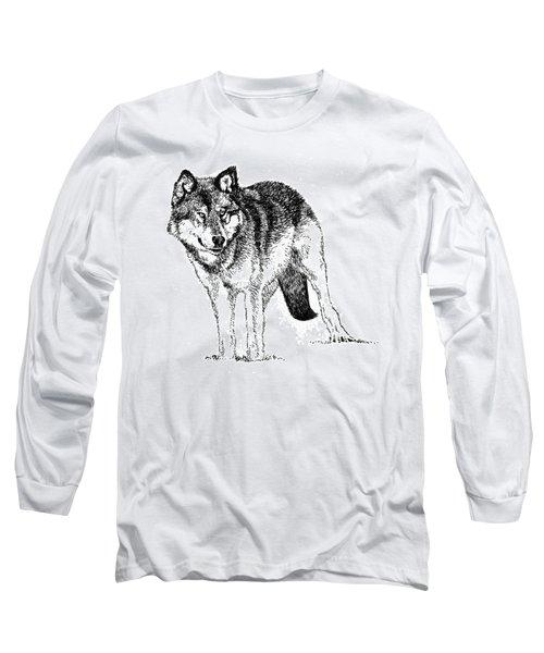 Alert Wolf Long Sleeve T-Shirt