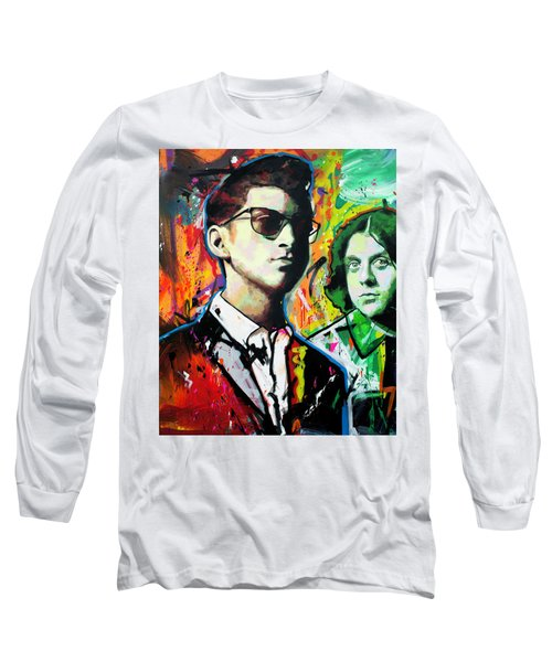 Long Sleeve T-Shirt featuring the painting Alex Turner by Richard Day