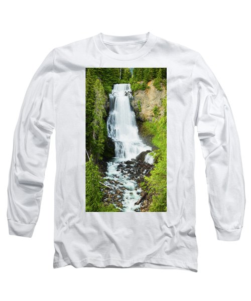 Long Sleeve T-Shirt featuring the photograph Alexander Falls - 2 by Stephen Stookey