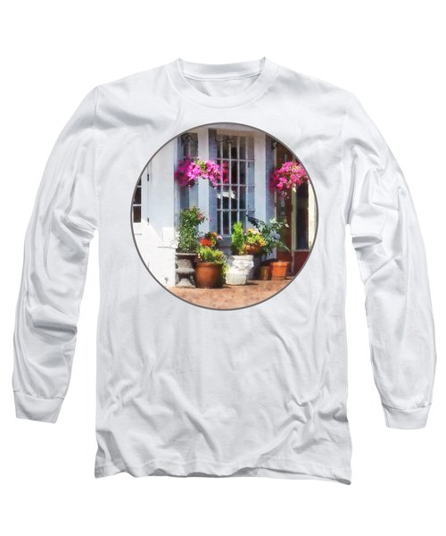 Alexandria Va - Corner Of King Street And S Alfred Long Sleeve T-Shirt by Susan Savad