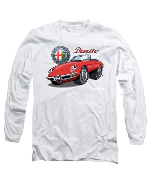 Alfa Romeo Duetto Cartoon Long Sleeve T-Shirt