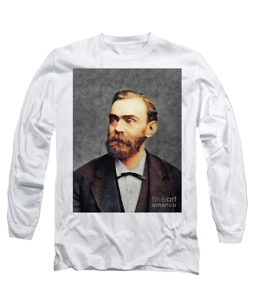 Alfred Nobel, Famous Scientist Long Sleeve T-Shirt