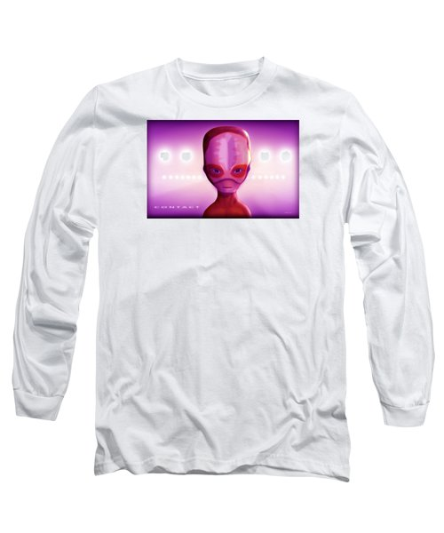 Long Sleeve T-Shirt featuring the digital art Alien Contact by John Wills