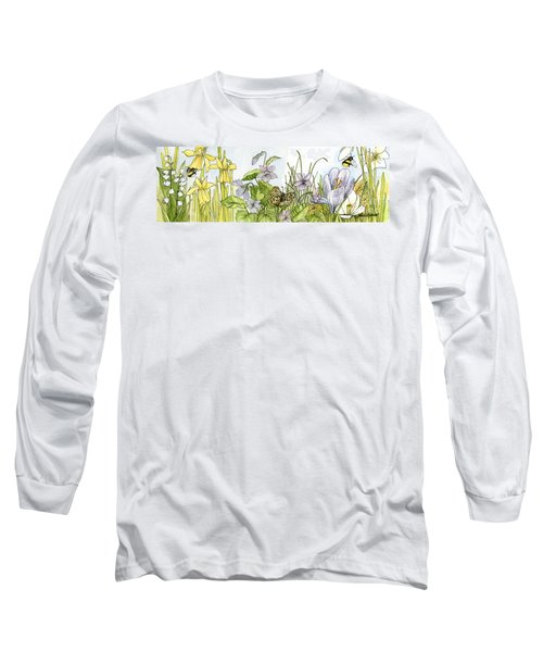 Alive In A Spring Garden Long Sleeve T-Shirt by Laurie Rohner