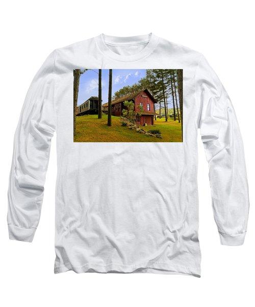 All Aboard Long Sleeve T-Shirt by Judy Johnson