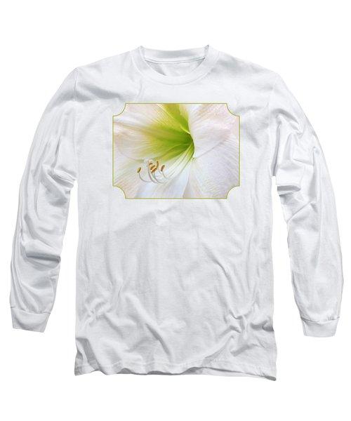 Alluring Amaryllis Long Sleeve T-Shirt by Gill Billington