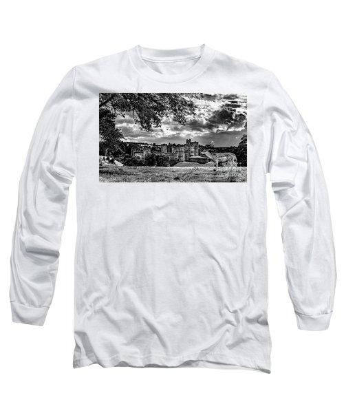 Alnwick Castle And Fallow Deer Long Sleeve T-Shirt