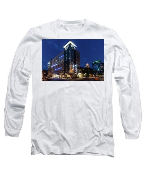 Long Sleeve T-Shirt featuring the photograph Aloft Louisville by Randy Scherkenbach
