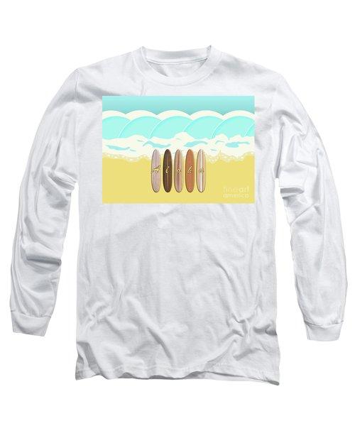 Aloha Surf Wave Beach Long Sleeve T-Shirt