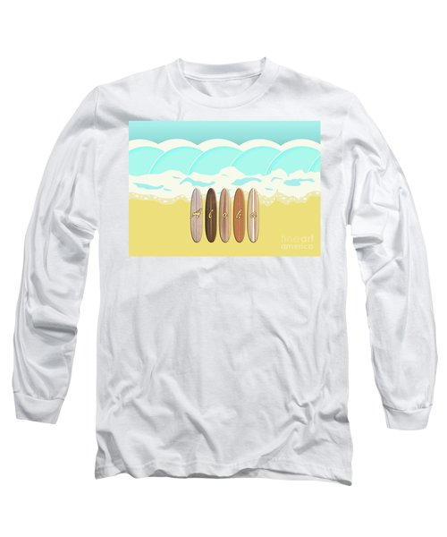 Aloha Surf Wave Beach Long Sleeve T-Shirt