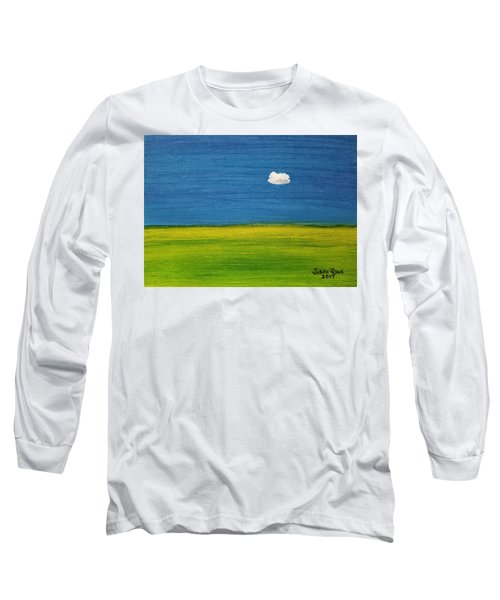 Long Sleeve T-Shirt featuring the painting Alone And Fine by Judith Rhue