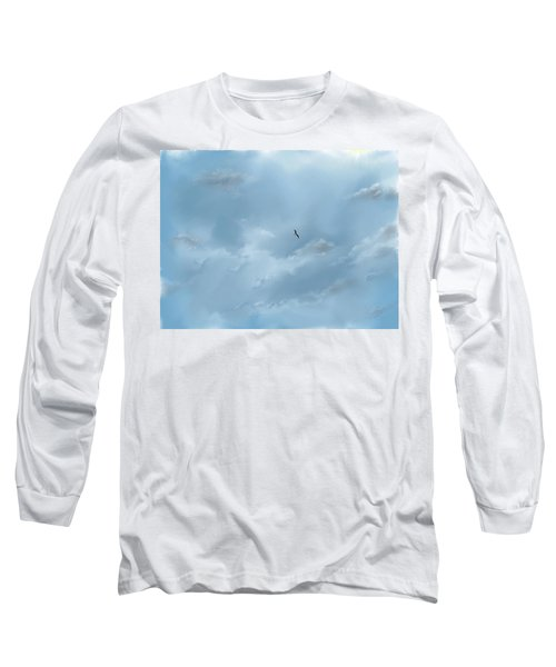 Long Sleeve T-Shirt featuring the digital art Alone by Darren Cannell