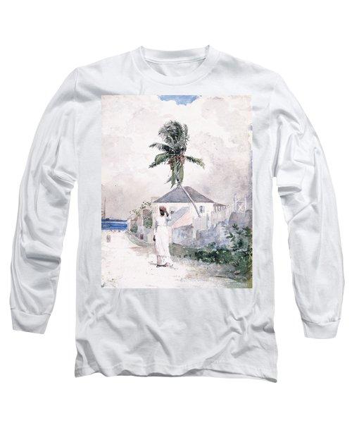 Along The Road   Bahamas 1885 Long Sleeve T-Shirt