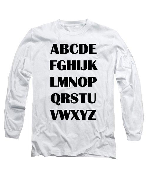 Alphabet T-shirt Long Sleeve T-Shirt