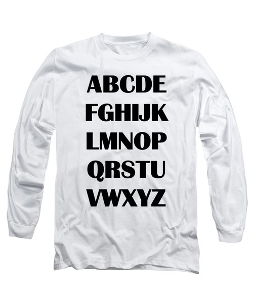 Alphabet T-shirt Long Sleeve T-Shirt