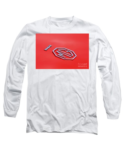 Long Sleeve T-Shirt featuring the photograph Aluminum Font by Stephen Mitchell