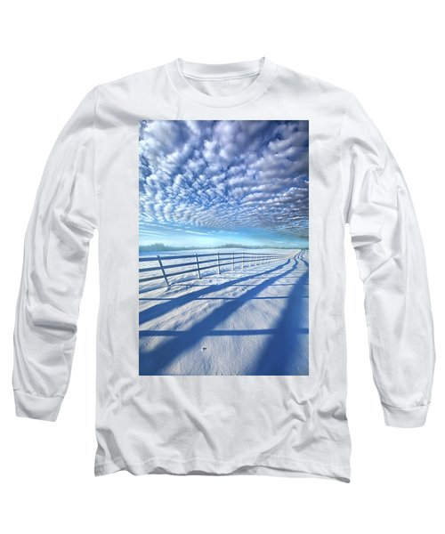 Long Sleeve T-Shirt featuring the photograph Always Whiter On The Other Side Of The Fence by Phil Koch