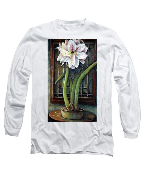 Amaryllis In The Window Long Sleeve T-Shirt