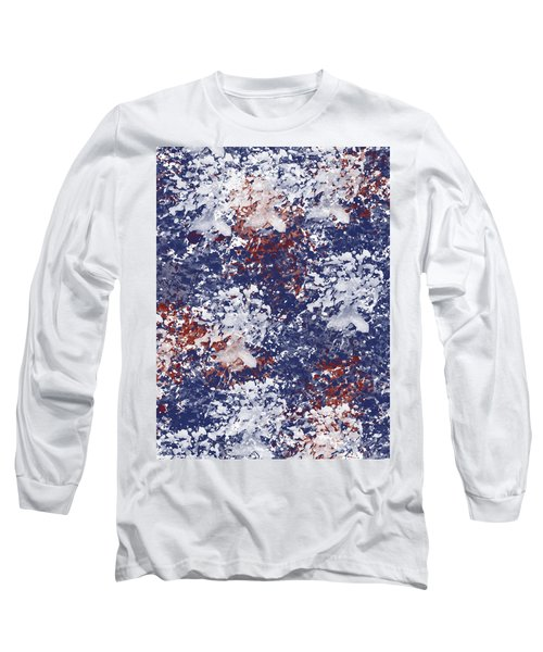 America Watercolor Long Sleeve T-Shirt by P S
