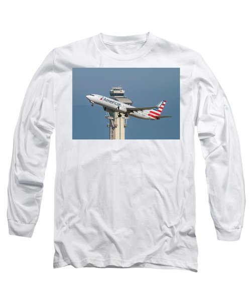 American Airlines Boeing 737-800 Taking Off From Lax  Long Sleeve T-Shirt