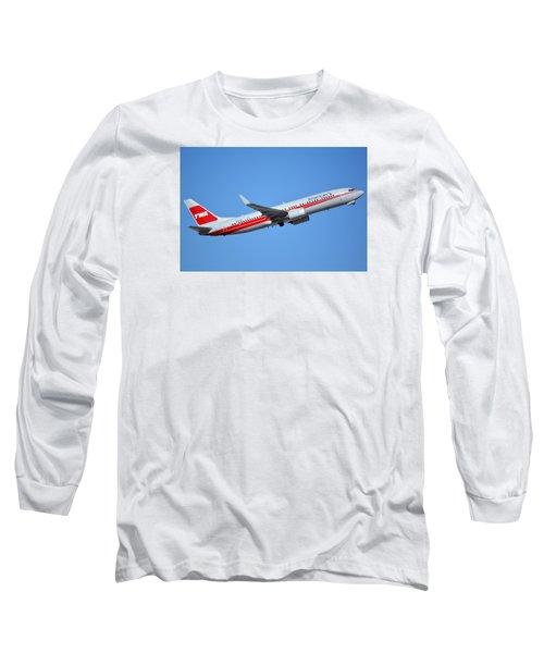 American Boeing 737-823 N915nn Retro Twa Phoenix Sky Harbor January 12 2015 Long Sleeve T-Shirt by Brian Lockett