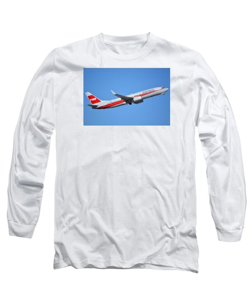 American Boeing 737-823 N915nn Retro Twa Phoenix Sky Harbor January 12 2015 Long Sleeve T-Shirt