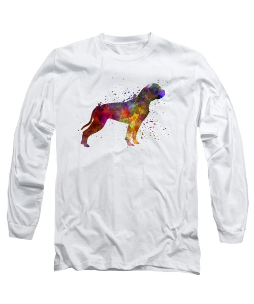 American Bulldog 01 In Watercolor Long Sleeve T-Shirt