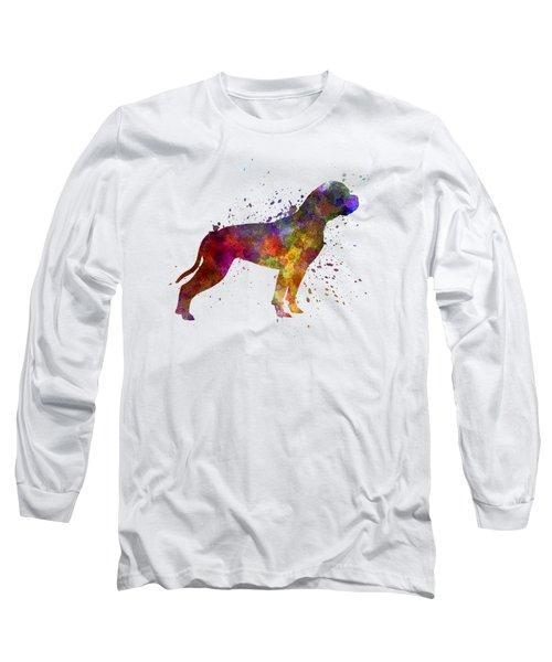 American Bulldog 01 In Watercolor Long Sleeve T-Shirt