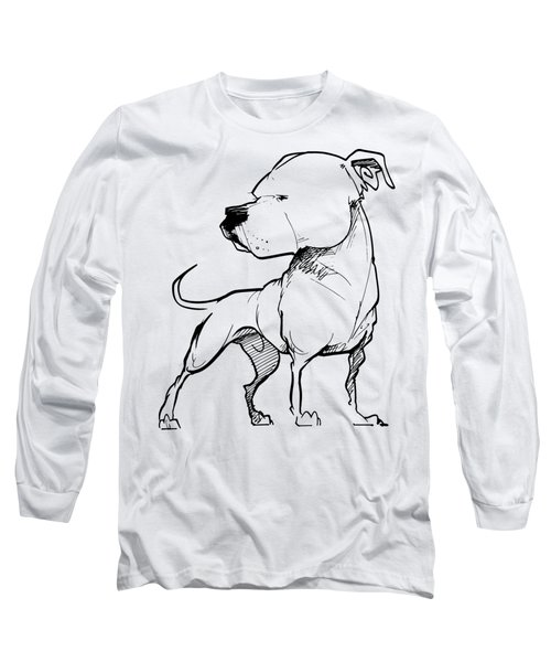 American Bulldog Gesture Sketch Long Sleeve T-Shirt